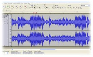 audacity podcast screen